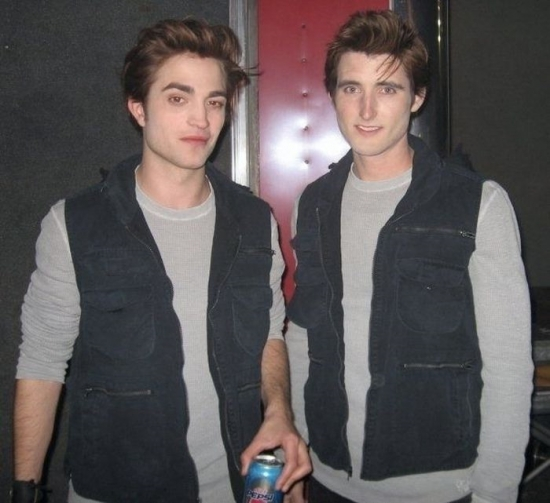 Robert Pattinson and his stunt double